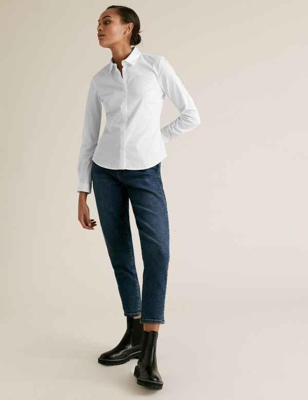3a6b525c184fff M&S Collection Womens Shirts & Blouses   Linen & Silk   M&S