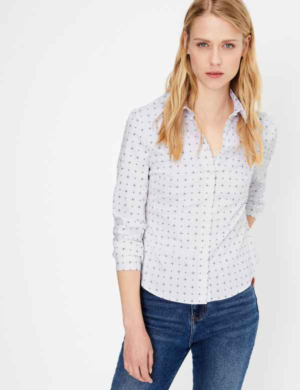 cae97b1738b 2 Women's shirts for €40. Sparks. Printed Fitted Long Sleeve Shirt. New