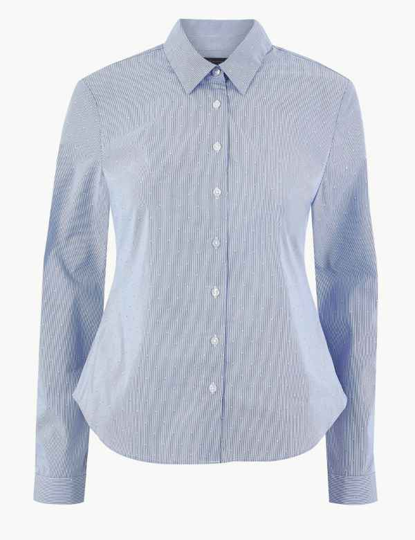 6b502aa4bd M&S Collection Womens Shirts & Blouses | Linen & Silk | M&S
