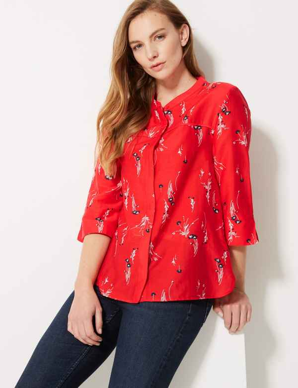 cde732a085 Womens Red Shirts   Red Blouses for Women   M&S