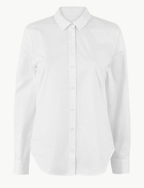 Pima Cotton Button Detailed Shirt