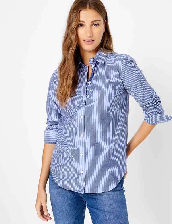 d57718d56d0fc Womens Blue Tops & T-shirts | M&S