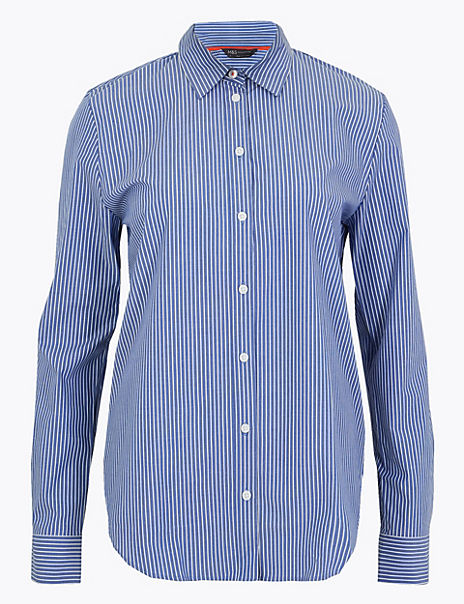 Pima Cotton Striped Shirt