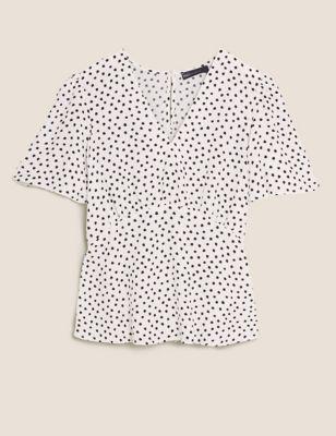 f45129dcf953be Linen Rich Floral Print Long Sleeve Shirt £27.50