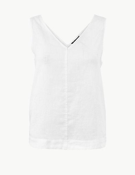 Pure Linen Vest Top