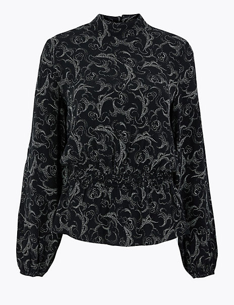 Paisley Waisted Blouse