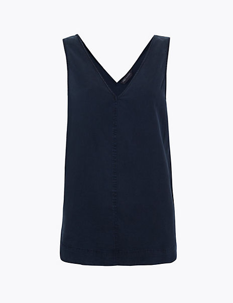 Tencel V-Neck Vest