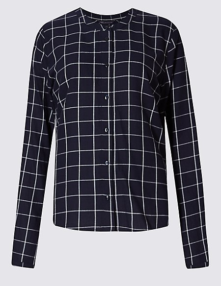 PETITE Pure Cotton Checked Shirt
