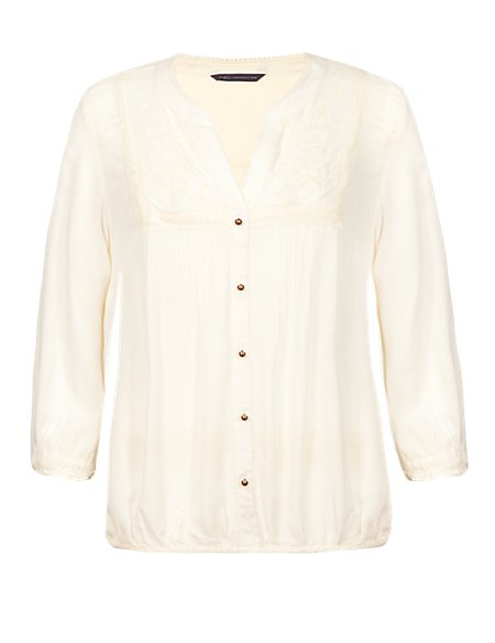 Dobby Spotted Blouse