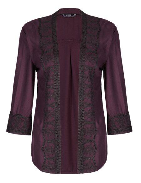 Embroidered Jacket Cardigan