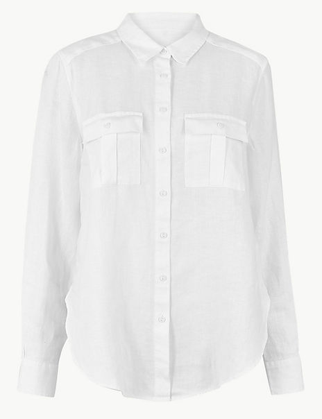 Pure Linen Utility Shirt
