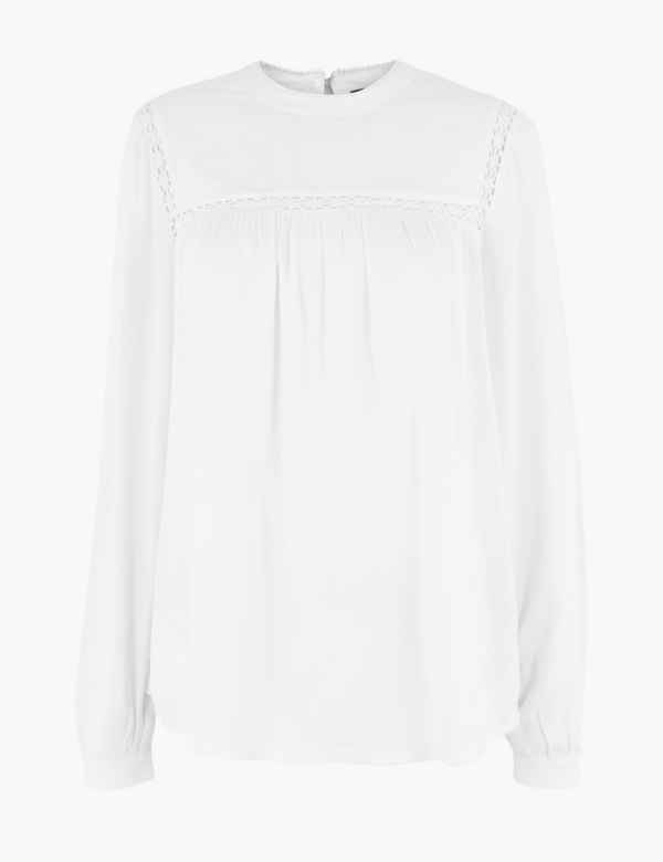 the best price fine quality Long Sleeve Shirts & Blouses for Women | M&S