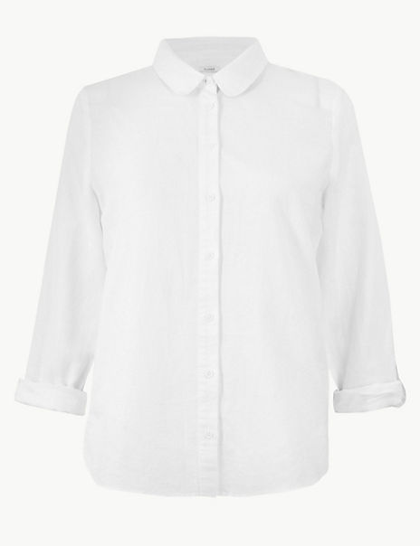 Linen Rich Button Detailed Shirt