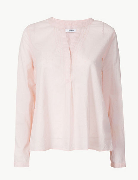Pure Cotton Textured Blouse