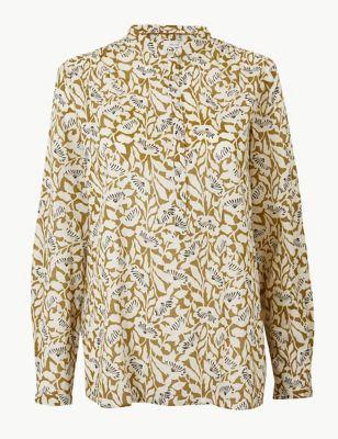 ca0a3861af6c Pure Cotton Floral Print Shirt £25.00