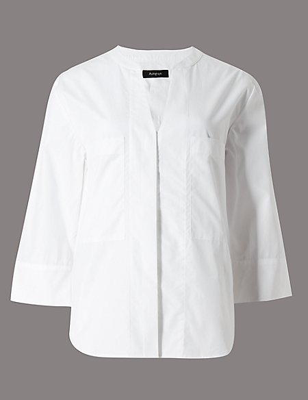 Pure Cotton Poplin Shirt