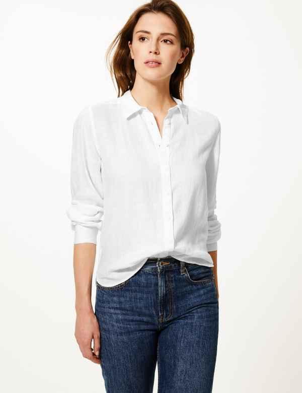 a98dfa68b8bd0d Button Detailed Shirt. New. M&S Collection