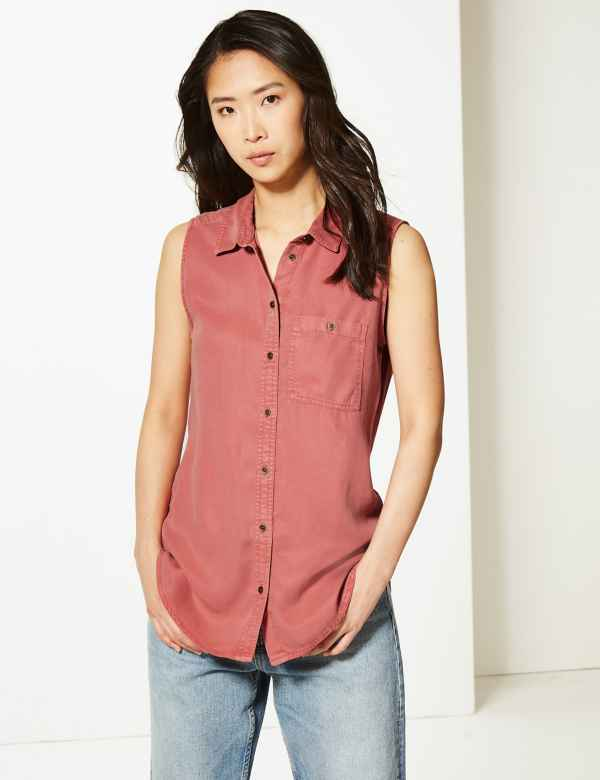 3950f79c M&S Collection Womens Shirts & Blouses | Linen & Silk | M&S