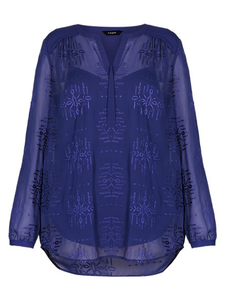 Embroidered Blouse with Camisole