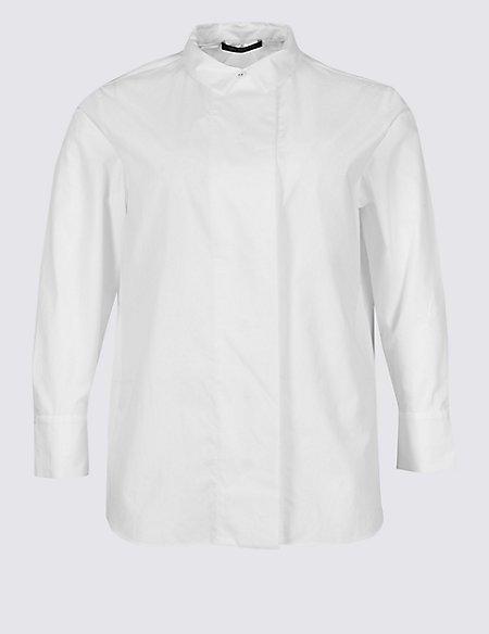 CURVE Pure Cotton Long Sleeve Shirt