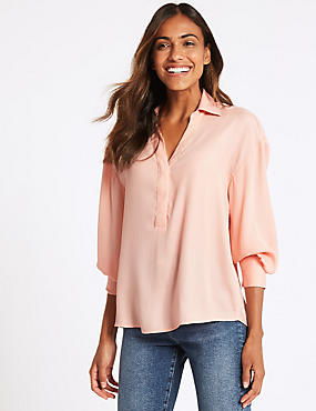 Popover Long Sleeve Blouse