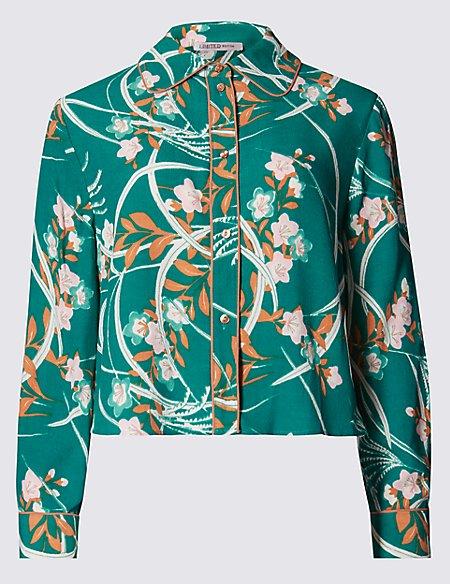 Button Through Oriental Blouse