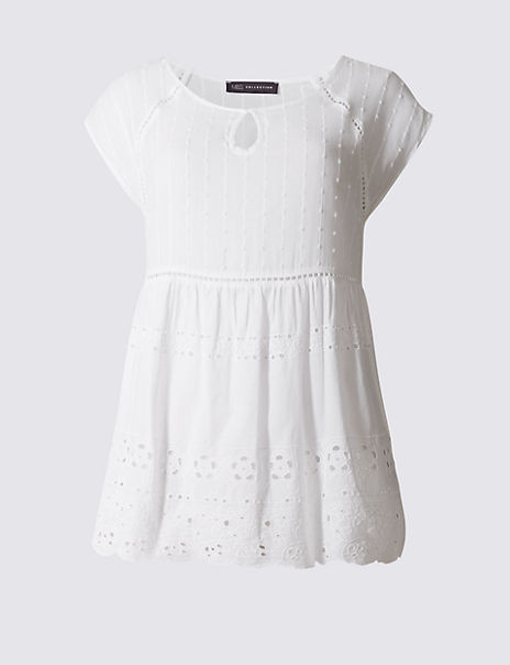 Pure Cotton Short Sleeve Shell Top