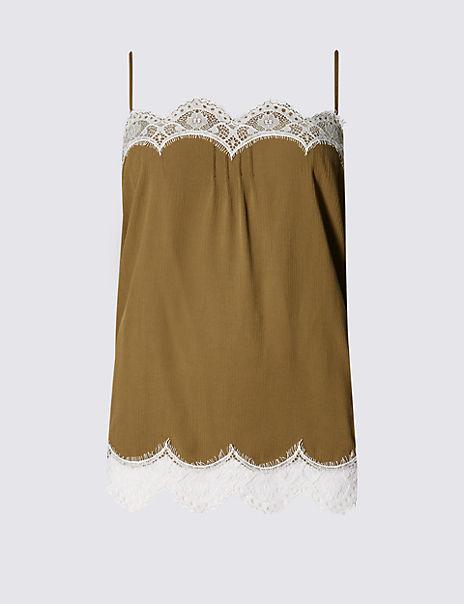 Lace Trim Camisole Top