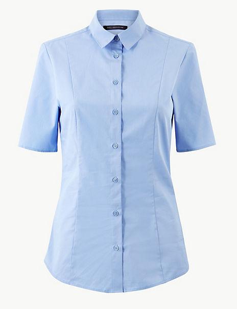 Cotton Rich Button Detailed Shirt