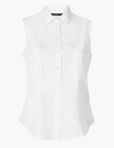 PETITE Button Detailed Shirt