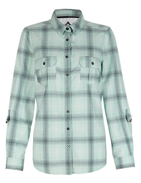 Cotton Rich Checked Shirt
