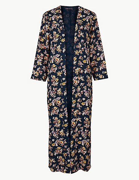 Printed Long Sleeve Kimono