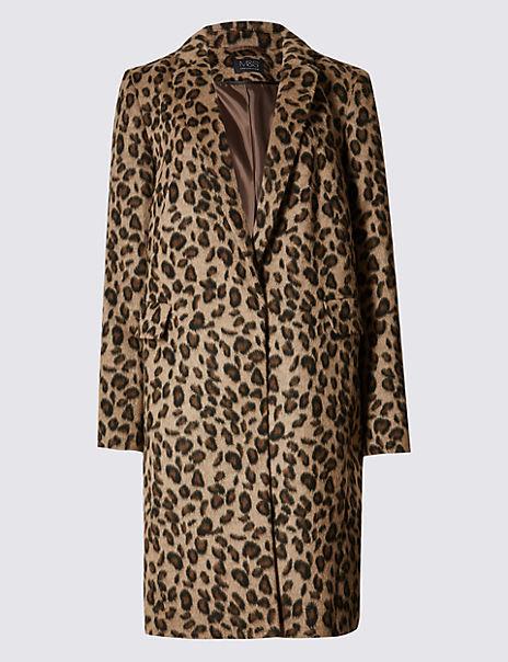 Leopard Print 2 Pocket Coat