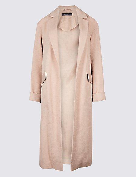 Plisse Duster Coat