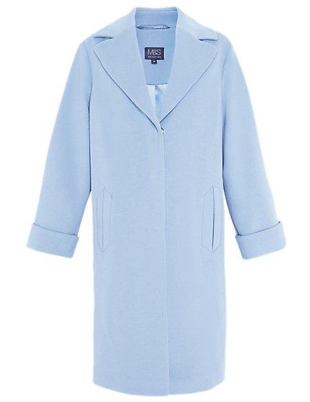 Notch Lapel Oversized Duster Coat