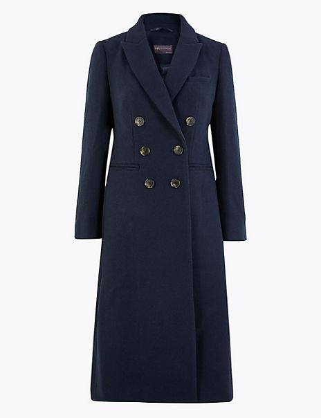 PETITE Waisted Overcoat