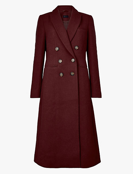 Wool Blend Waisted Overcoat