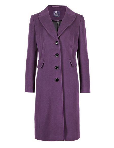 Wool Blend Coat with Cashmere