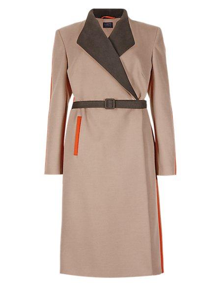 Collared Neck Overcoat