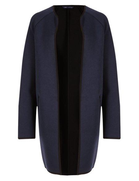 Cotton Rich Scuba Panelled Coat