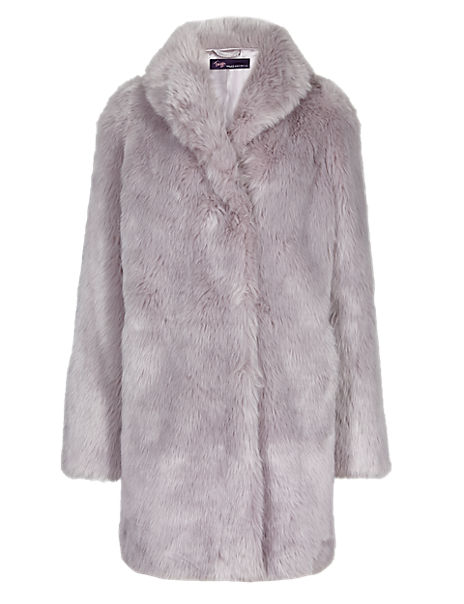 Twiggy for M&S Collection Faux Fur Coat