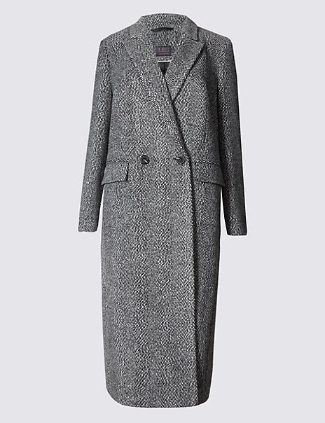 PETITE Button Through Overcoat