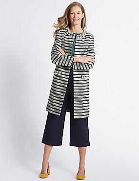 Cotton Blend Jacquard Coat