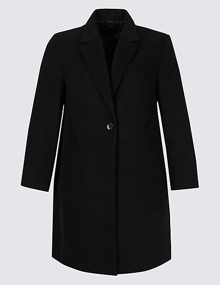 CURVE Single Button Coat