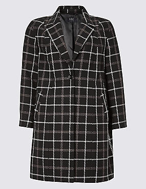 CURVE Cotton Rich Single Breasted Coat