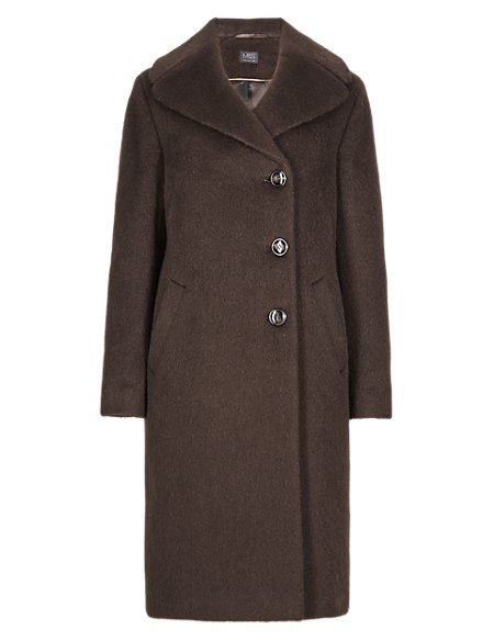 Oversized Luxury Double Breasted Coat with Wool