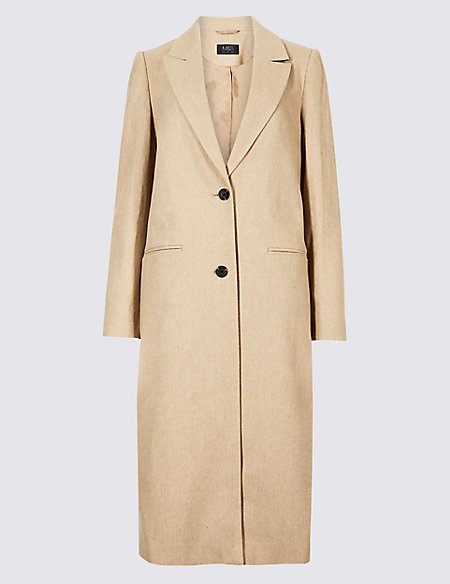 Textured Longline coat
