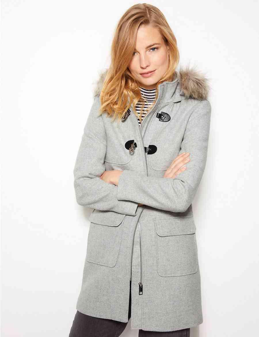 90436ec9494 Faux Fur Duffle Coat