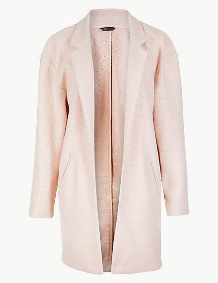 Textured Open Front Coat