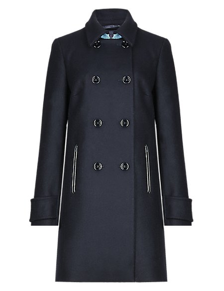 Pure Wool Double Breasted Peacoat